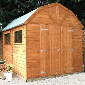 10' x 8' Windsor Groundsman Dutch Barn Wooden Shed