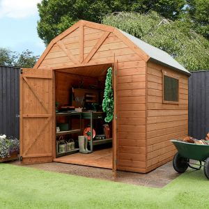 8' x 8' Windsor Groundsman Dutch Barn Wooden Shed