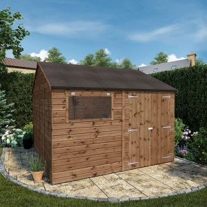 10' x 10' Windsor Groundsman Wooden Garden Workshop Shed