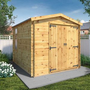 Windsor Oberland 3.3m x 2.6m Log Cabin Workshop (19mm)