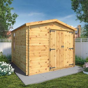 Windsor Oberland 3.3m x 3m Log Cabin Workshop (19mm)
