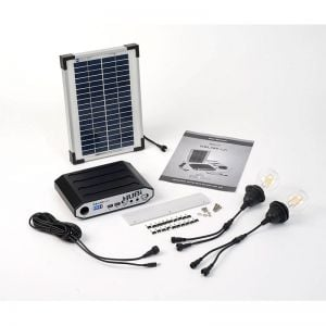 Solartech Premium Summerhouse And Garden Building Solar Lighting Kit 4