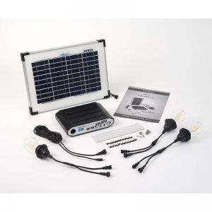 Solartech Premium Summerhouse And Garden Building Solar Lighting Kit 5