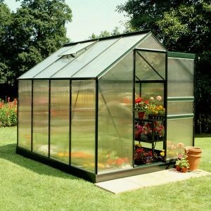 8x6 Green Frame Polycarbonate Greenhouse