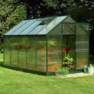 10x6 Green Frame Polycarbonate Greenhouse