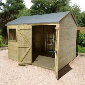 10' x 8' Shed-Plus Champion Heavy Duty Reverse Apex Double Door Shed