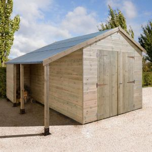 12' x 8' Shed-Plus Champion Combination Workshop with Log Store - Double Doors