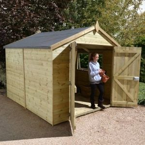 14' x 8' Shed-Plus Champion Heavy Duty Apex Double Door Shed