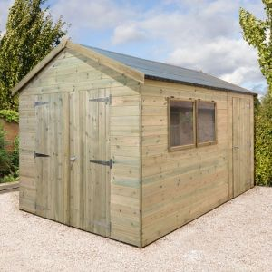 14' x 8' Shed-Plus Champion Heavy Duty Combination Double Door Shed