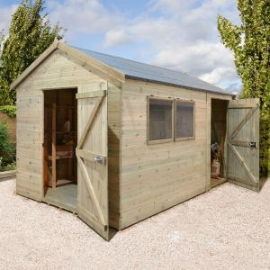 14' x 8' Shed-Plus Champion Heavy Duty Combination Single Door Shed