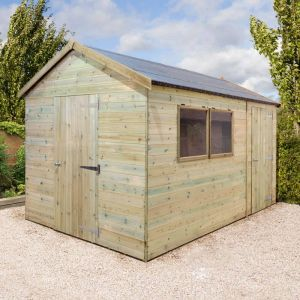 14' x 10' Shed-Plus Champion Heavy Duty Combination Single Door Shed (4.2m x 3m)