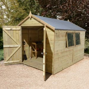 16' x 8' Shed-Plus Champion Heavy Duty Apex Double Door Shed