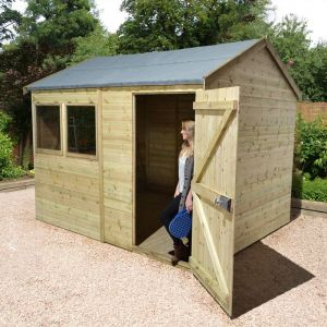 16' x 8' Shed-Plus Champion Heavy Duty Reverse Apex Single Door Shed