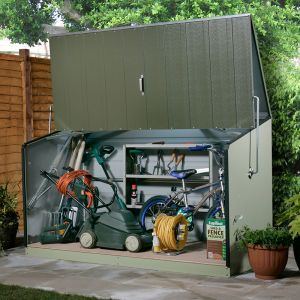 6'5 x 2'11 (1.96x0.89m) Trimetals Green Storeguard Metal Garden Storage Unit
