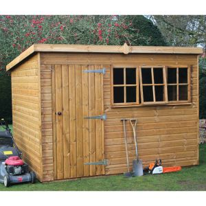 14' x 10' (4.28x3.05m) Traditional Heavy Pent Shed