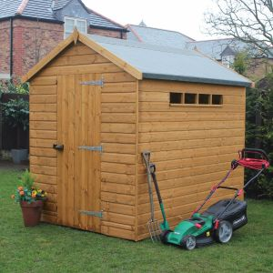 6' x 4' (1.83x1.22m) Traditional Apex Security Shed