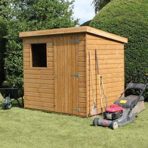 8' x 6' (2.44x1.83m) Traditional Standard Pent Shed