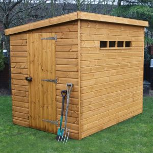 8' x 8' (2.44x2.44m) Traditional Pent Security Shed