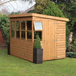 8' x 8' (2.43x2.43m) Traditional Sun Pent 8' Gable Shed