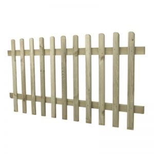 0.9m High Pressure Treated Pale Picket Fence Panel