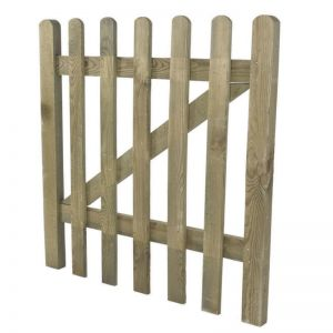 Forest 3' x 3' Wooden Pressured Treated Pale Picket Wooden Gate