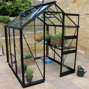 6' x 6' Eden Burford Small Greenhouse in Black (1.94m x 1.94m)