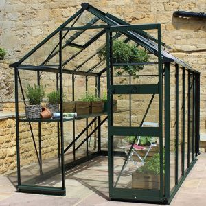 6' x 10' Eden Burford Small Greenhouse in Green (1.94m x 3.17m)