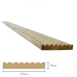 Forest Treated Softwood Deck Board 19mm x 120mm x 2.4m Pack of 50