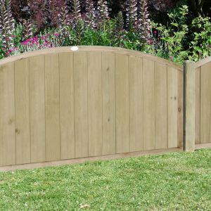 4'x6' (1.2x1.8m) Fence-Plus Domed Top Tongue and Groove Fence Panel