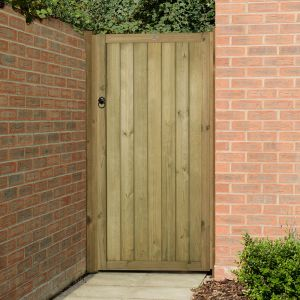 6'x3' (1.8x0.9m) Forest Pressure Treated Vertical Tongue & Groove Gate