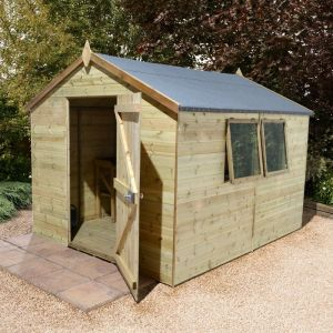 12' x 10' Shed-Plus Champion Heavy Duty Apex Single Door Shed