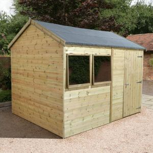 14' x 10' Shed-Plus Champion Heavy Duty Reverse Apex Single Door Shed