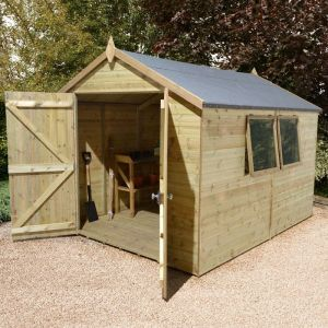20' x 10' Shed-Plus Champion Heavy Duty Apex Wooden Shed With Double Doors