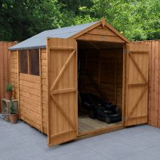 8' x 6' Forest Overlap Dip Treated Double Door Apex Wooden Shed