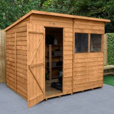 8' x 6' Forest Overlap Dip Treated Pent Wooden Shed