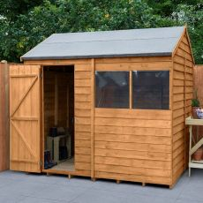 8' x 6' Forest Overlap Dip Treated Reverse Apex Wooden Shed