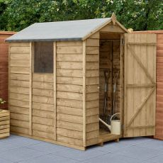 6' x 4' Forest Overlap Pressure Treated Apex Wooden Shed