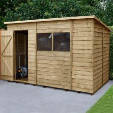 10' x 6' Forest Overlap Pressure Treated Pent Wooden Shed