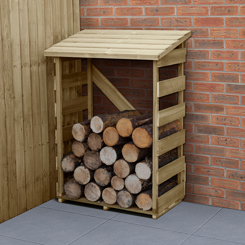 3' x 2' Forest Slatted Log Store (0.9m x 0.57m) - Small