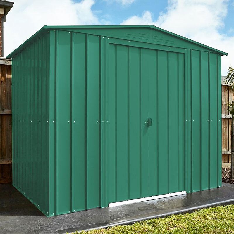 8' x 6' Lotus Heritage Green Apex Metal Shed (2.45m x 1.85m)