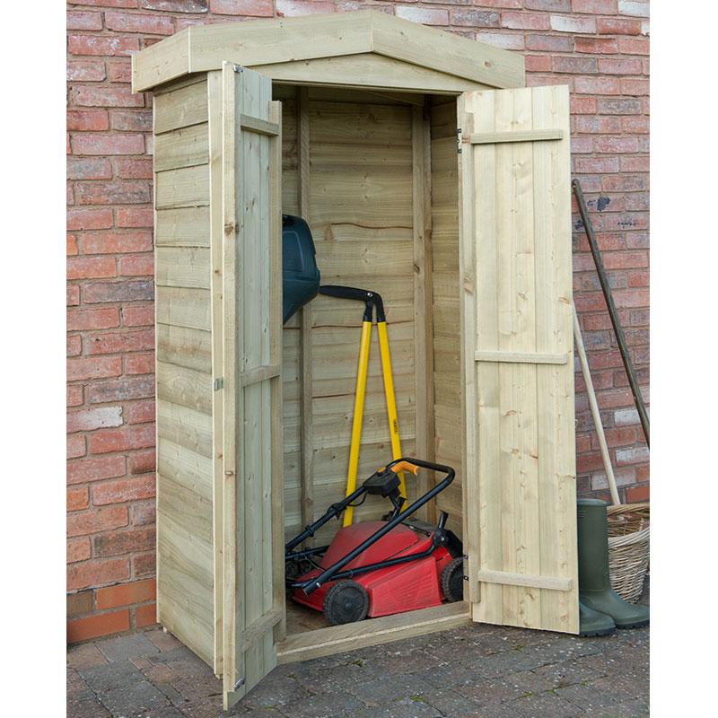 3'7 x 1'8 Forest Tall Apex Wooden Garden Storage Tool Store - Outdoor Patio Storage (1.1m x 0.5m)