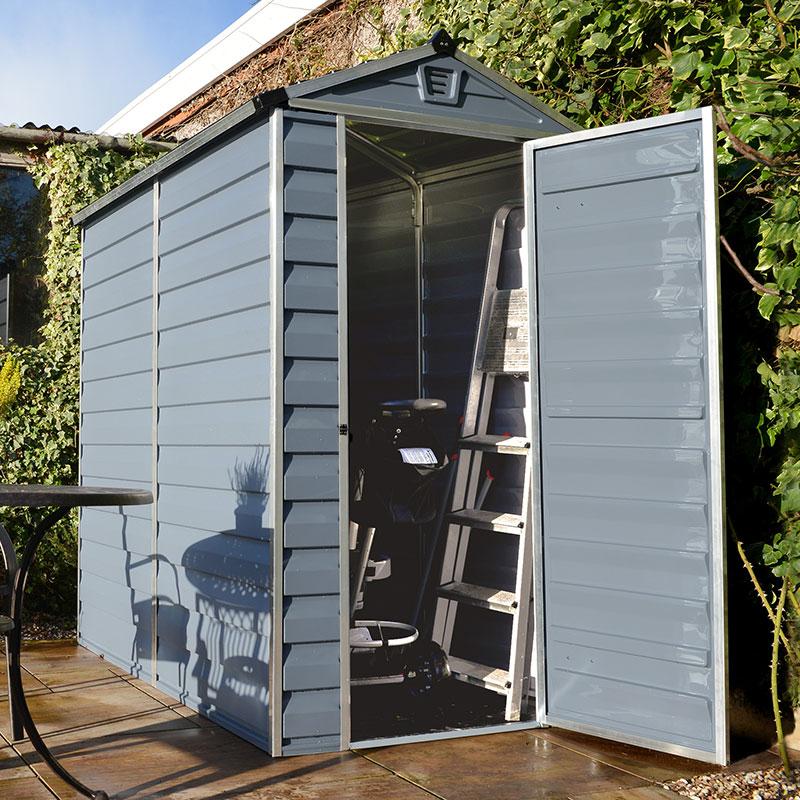 4' x 6' Palram Grey Skylight Plastic Shed (1.21m x 1.77m)