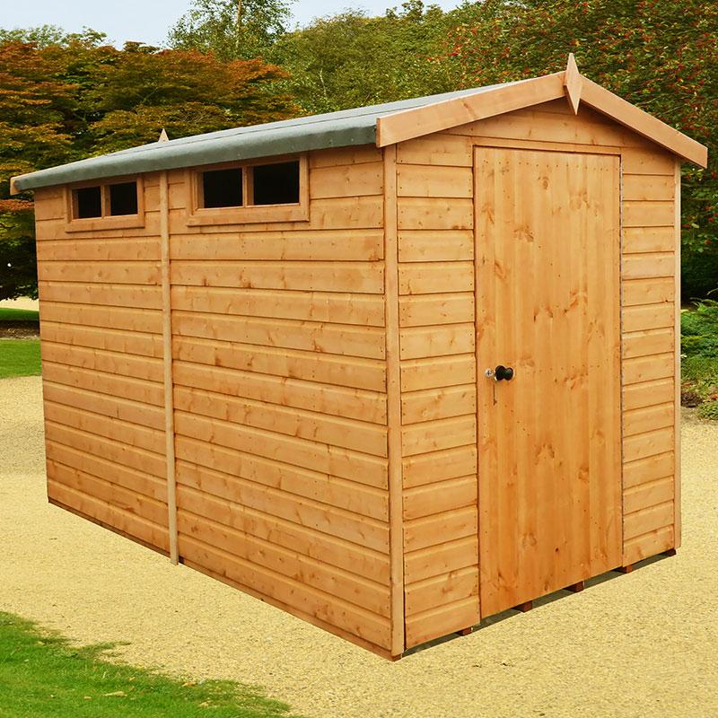 6' x 10' Shire Premium Security Apex Wooden Garden Shed (1.79m x 2.99m)