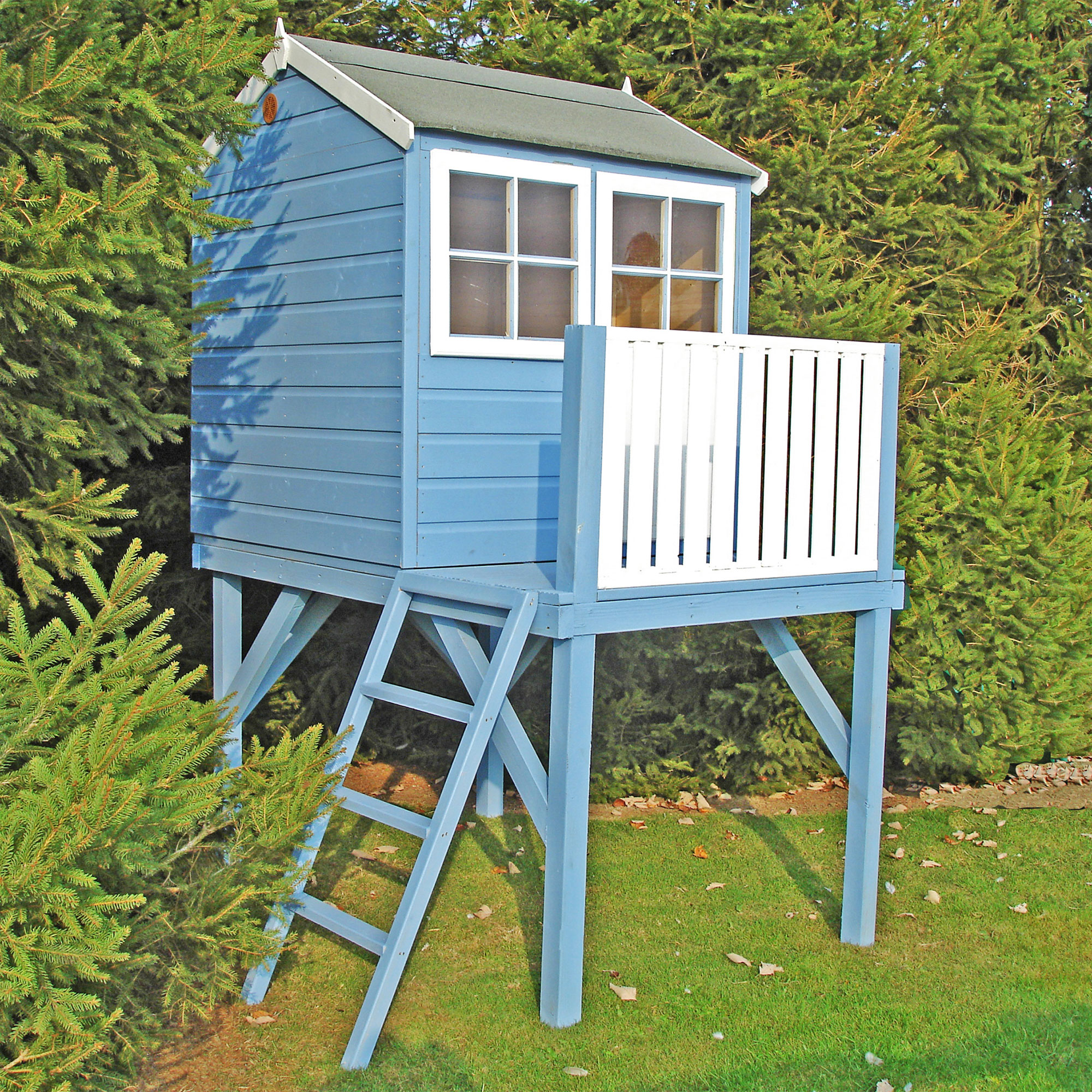 4x6 Shire Bunny Tower Kids Wooden Playhouse