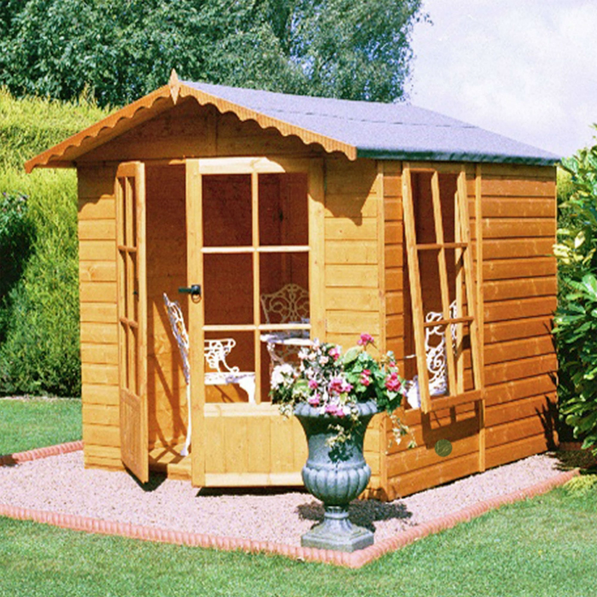 6'6x6'9 Shire Buckingham Traditional Wooden Summer House