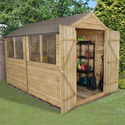 Shed Design: is apex better than pent?