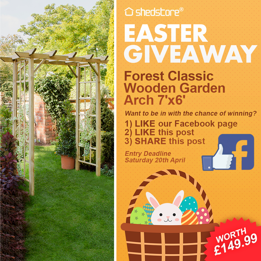 Wooden Garden Arch Easter Giveaway