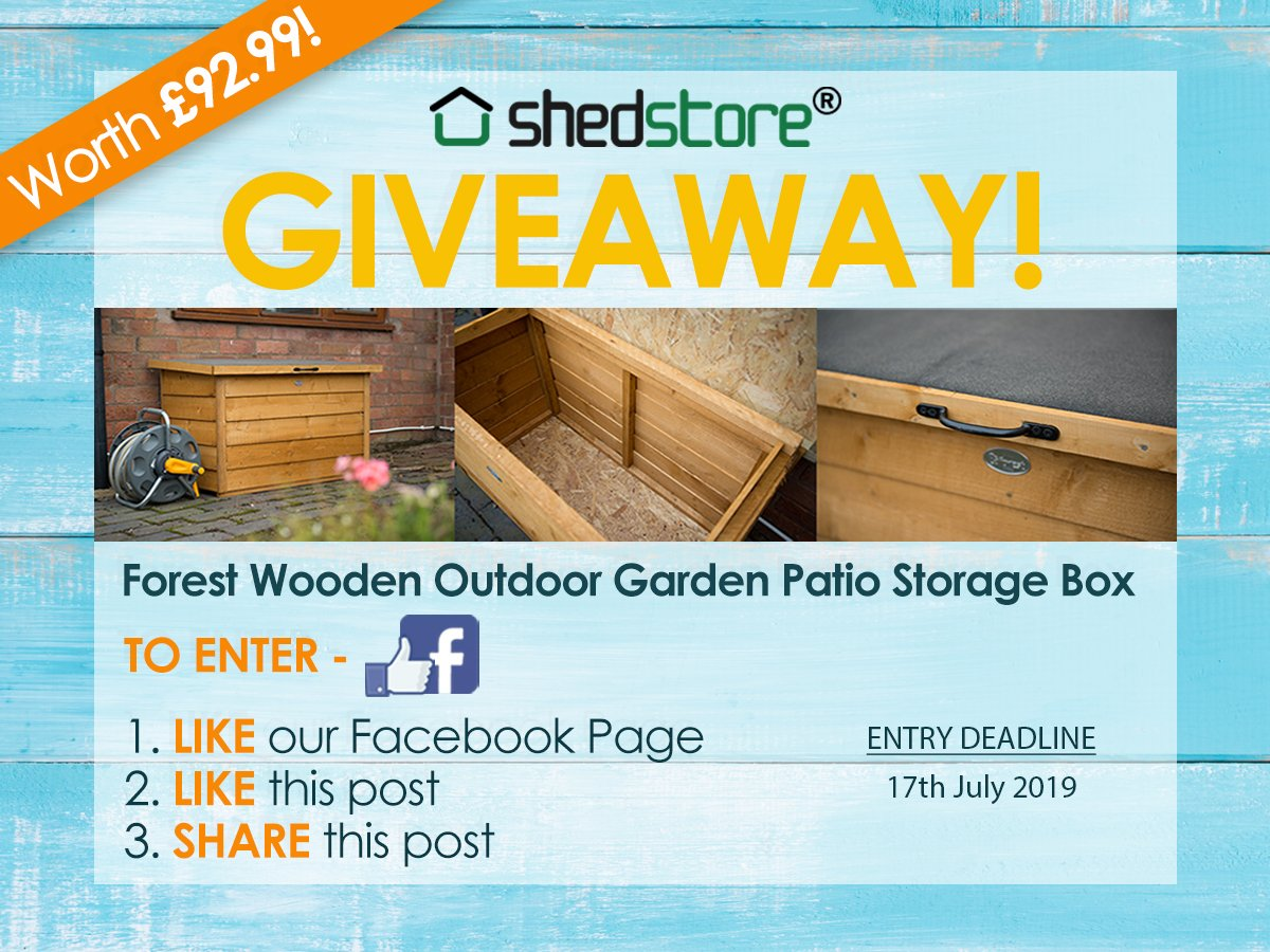 Forest Patio Storage Box Giveaway