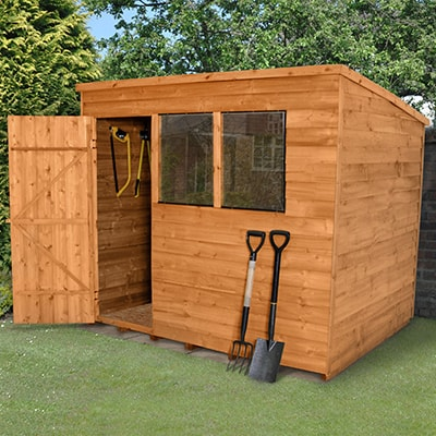8x6 Forest Overlap Pent Wooden Shed