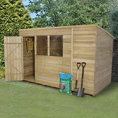 10x6 Forest Pent Overlap Pressure Treated Shed
